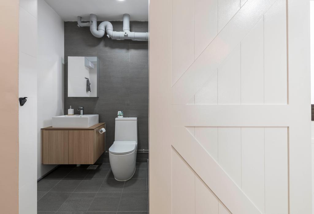 Scandinavian, HDB, Bathroom, Jurong West 65, Interior Designer, Project Guru