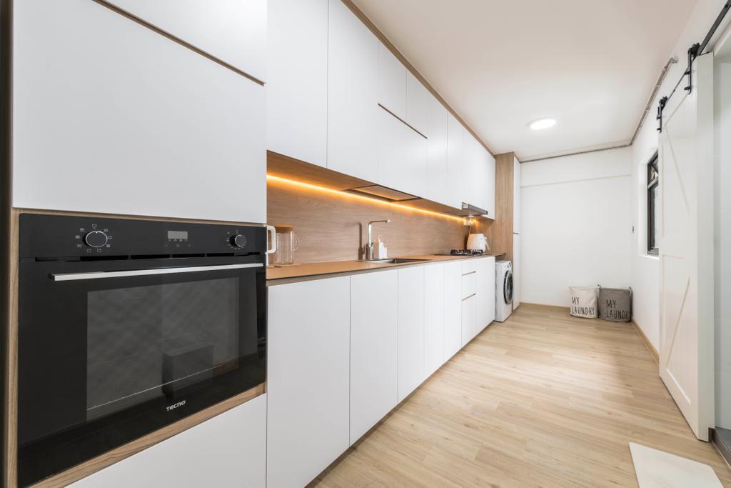 Scandinavian, HDB, Kitchen, Jurong West 65, Interior Designer, Project Guru