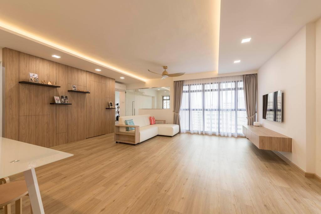 Scandinavian, HDB, Living Room, Jurong West 65, Interior Designer, Project Guru