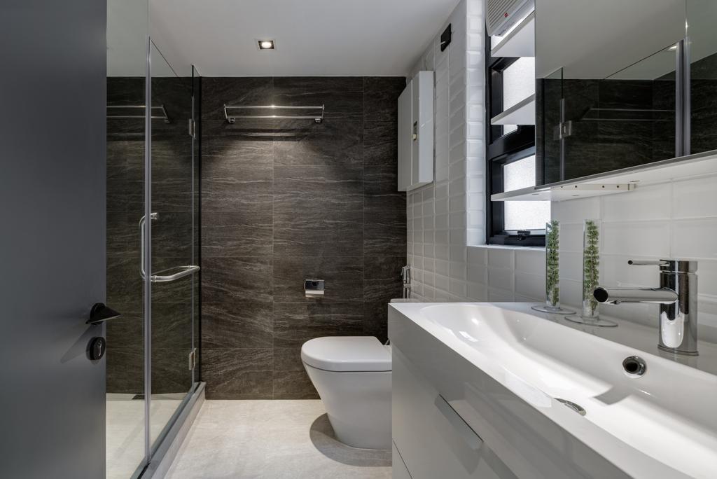 摩登, 私家樓, 浴室, 新港城, 室內設計師, in Him's Interior Design, 工業
