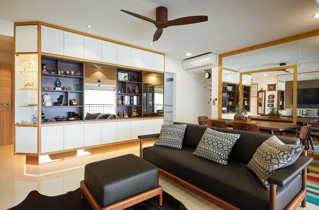 HDB, Living Room, City View @ Boon Keng, Interior Designer, Minutiae