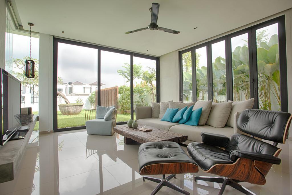 Contemporary, Landed, Living Room, The Gardens, Interior Designer, Minutiae