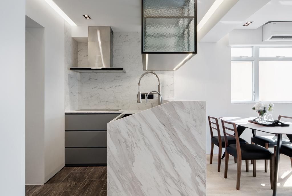 簡約, 私家樓, 廚房, 銀禧花園, 室內設計師, in Him's Interior Design, 摩登