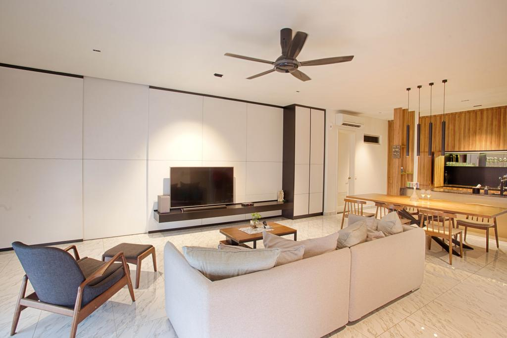 Contemporary, Landed, Living Room, The Retreat, Interior Designer, Minutiae