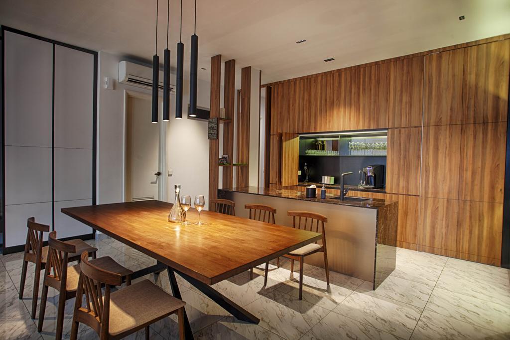 Contemporary, Landed, Dining Room, The Retreat, Interior Designer, Minutiae