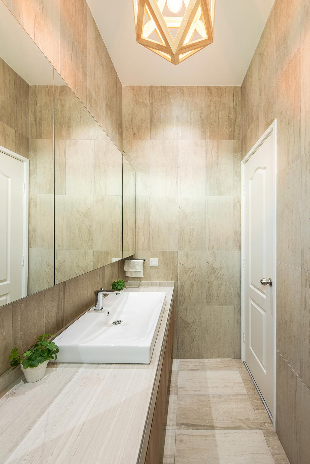 Contemporary, Landed, Bathroom, Springfields Residence, Interior Designer, Pocket Square