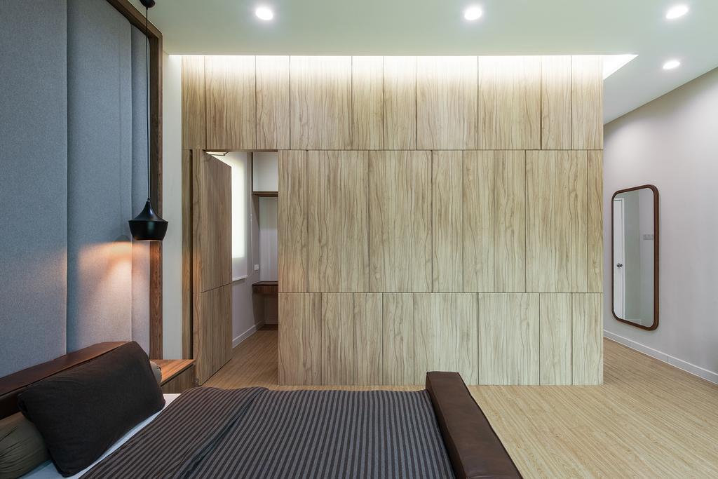 Contemporary, Landed, Bedroom, Springfields Residence, Interior Designer, Pocket Square, Concealed Doorway, Hidden Doorway, Walkway, Secret Doorway