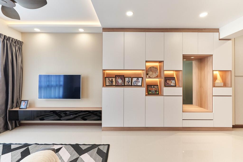Contemporary, HDB, Living Room, Telok Blangah Street 31, Interior Designer, ELPIS Interior Design