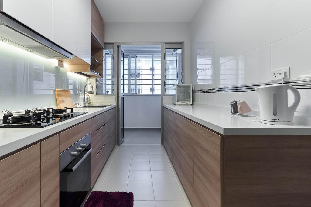 Contemporary, HDB, Kitchen, Telok Blangah Street 31, Interior Designer, ELPIS Interior Design