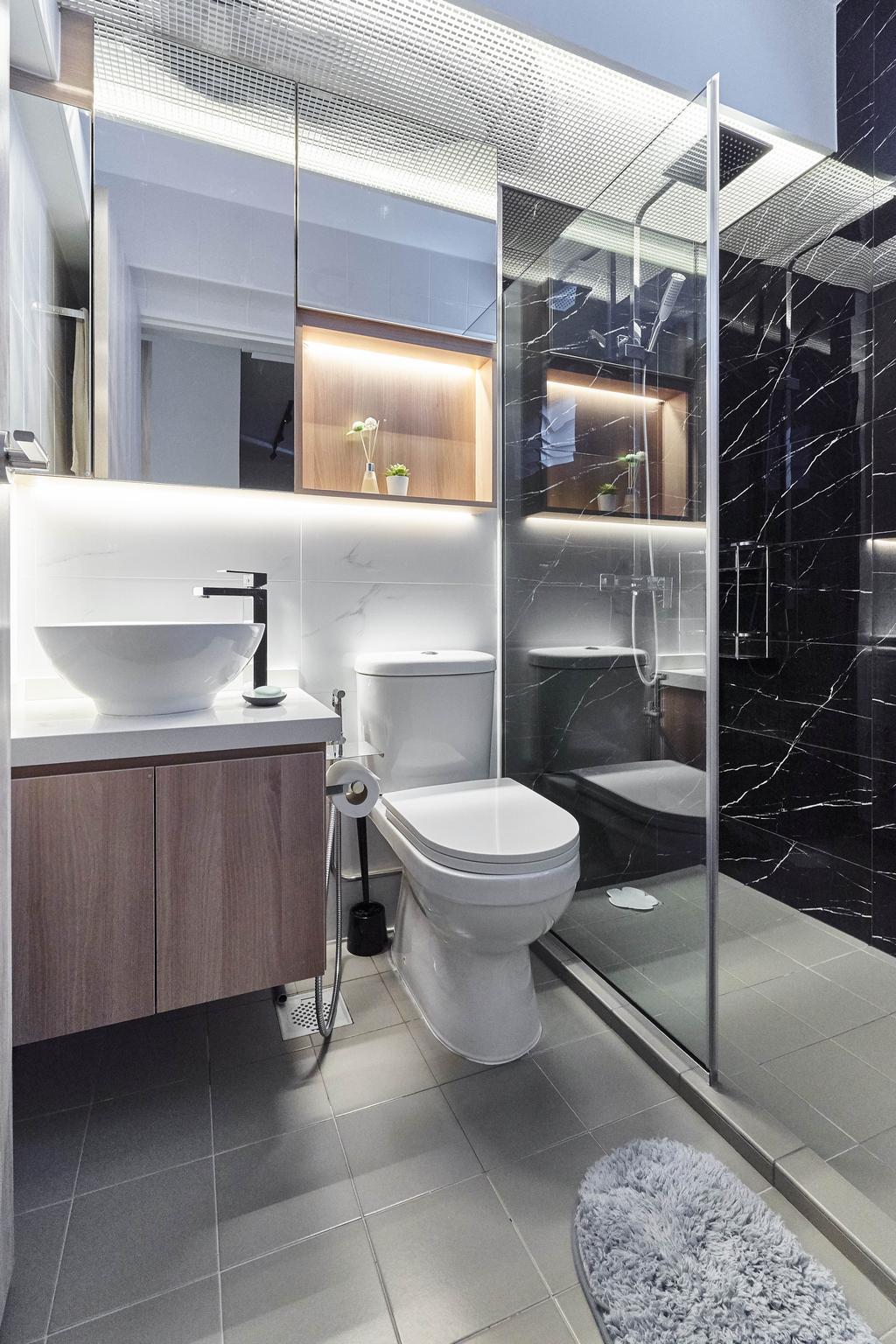 Contemporary, HDB, Bathroom, Telok Blangah Street 31, Interior Designer, ELPIS Interior Design
