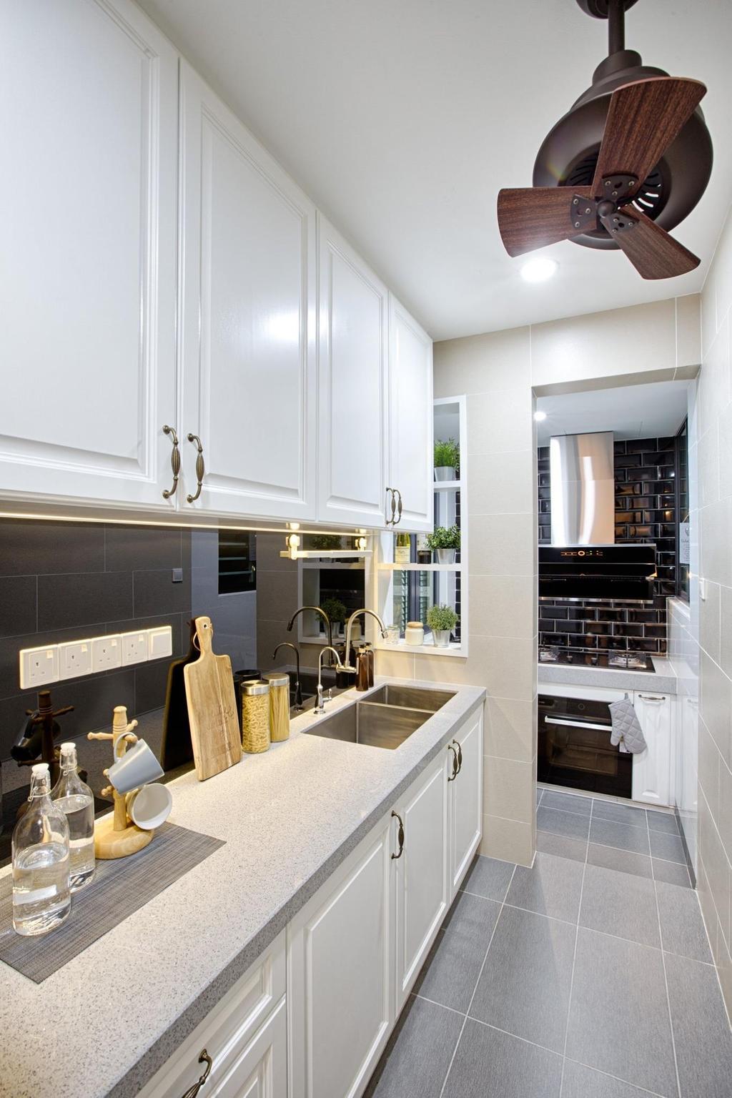 Modern, Condo, Kitchen, Ascenda Residence, Setapak, Interior Designer, GI Design Sdn Bhd, Contemporary