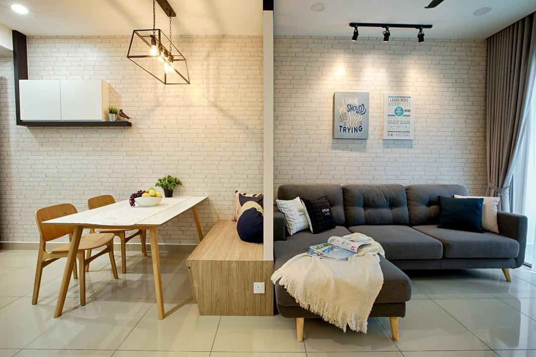 Ascenda Residence, Setapak Living Room Interior Design 1