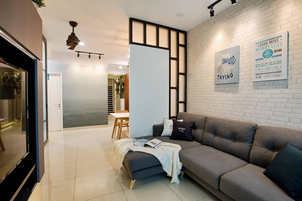 Modern, Condo, Living Room, Ascenda Residence, Setapak, Interior Designer, GI Design Sdn Bhd, Contemporary