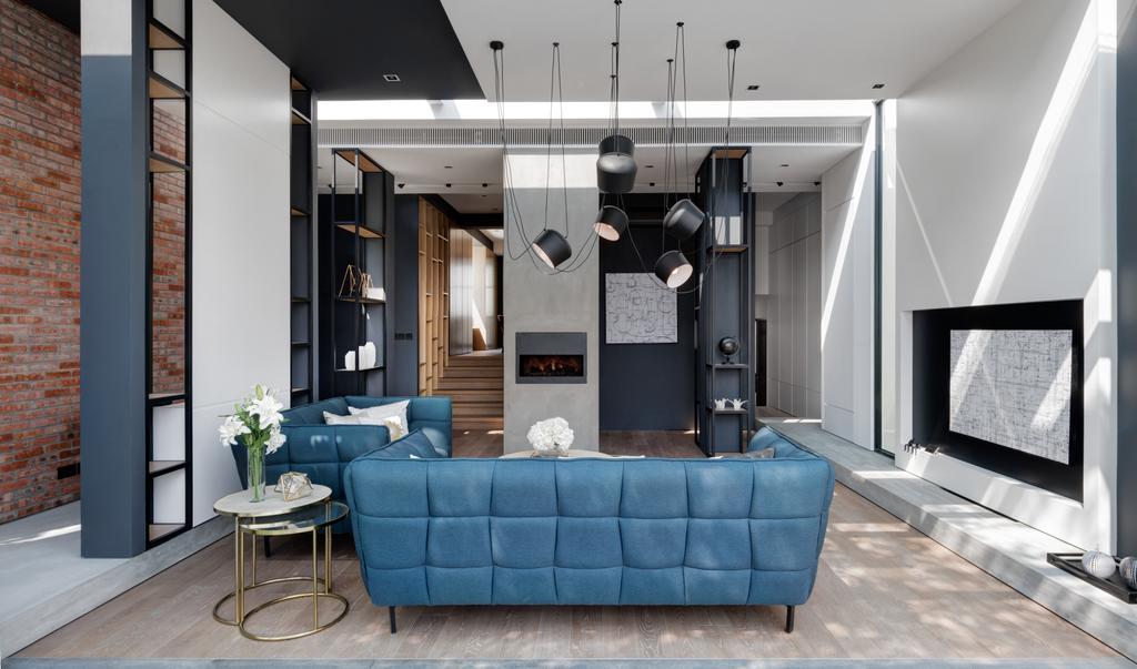 摩登, 私家樓, 客廳, 怡林閣, 室內設計師, in Him's Interior Design, 當代