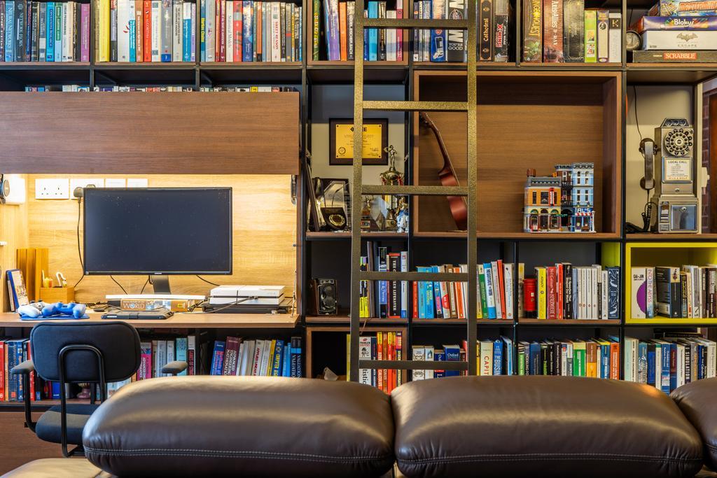 Eclectic, HDB, Study, Toh Guan, Interior Designer, Hall Interiors