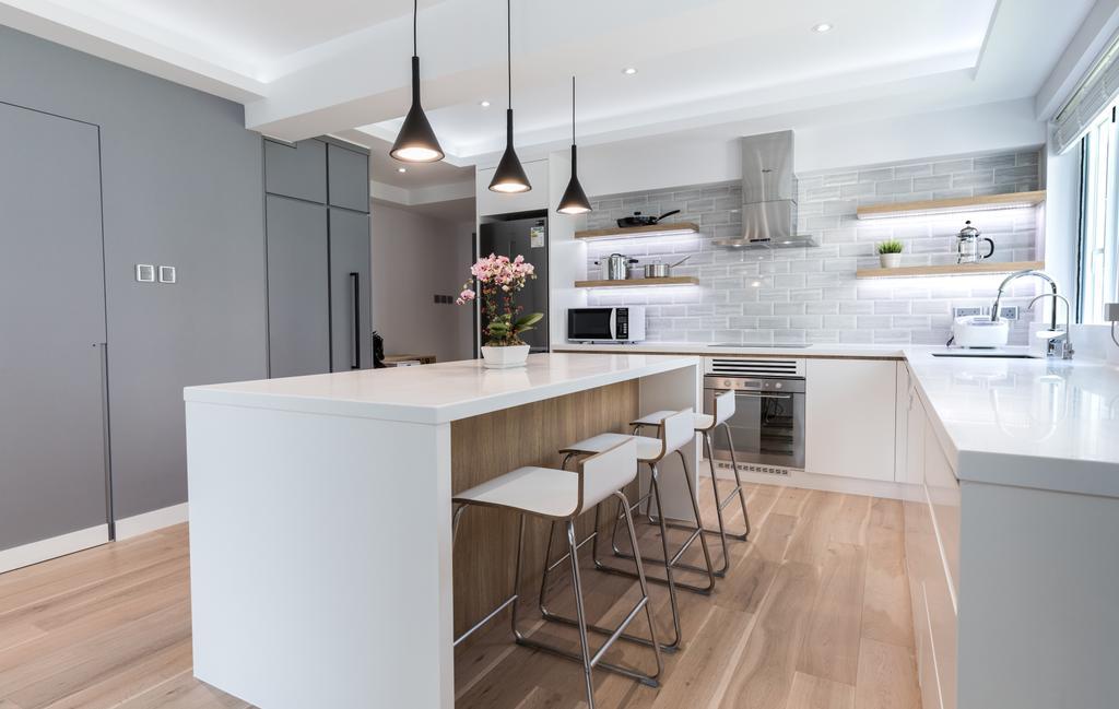 摩登, 私家樓, 飯廳, 跑馬地藍塘道, 室內設計師, Leehar Home, 當代