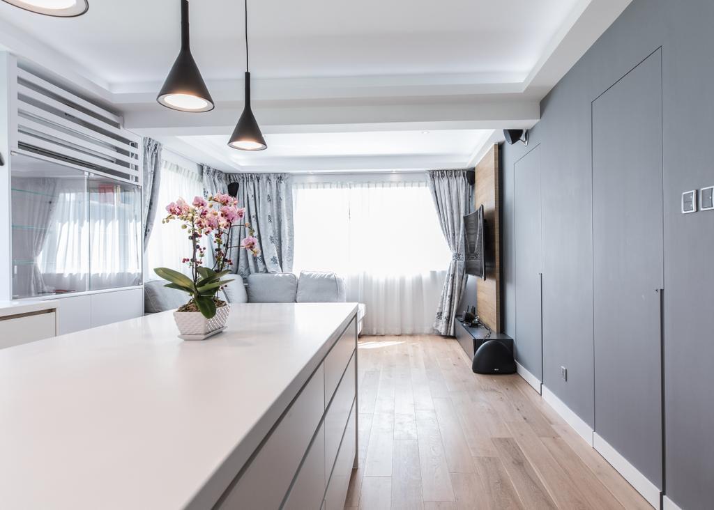 摩登, 私家樓, 客廳, 堅尼地城山市街, 室內設計師, Leehar Home, 當代