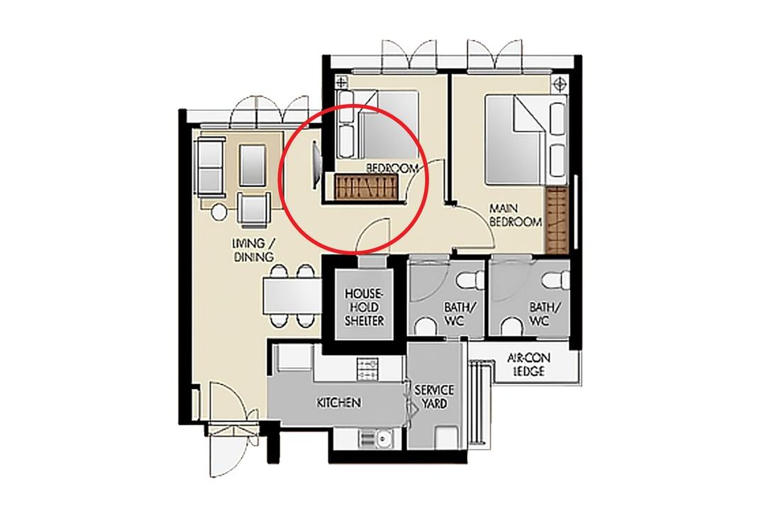 HDB BTO floor plan layout