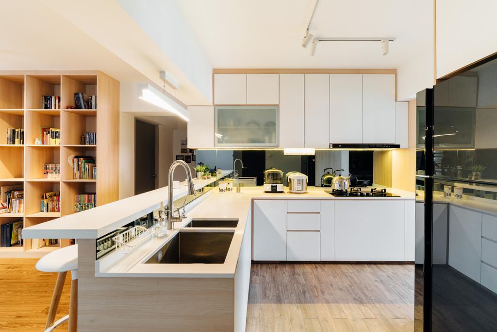 Contemporary, HDB, Kitchen, Toa Payoh Lorong 8, Interior Designer, Fineline Design