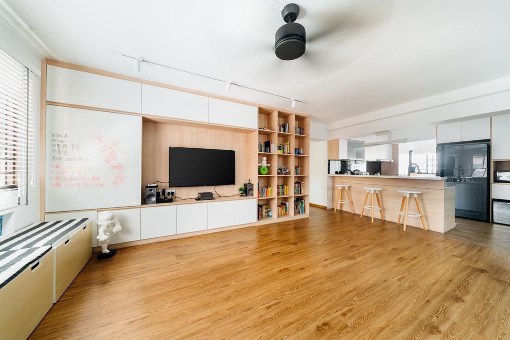 Contemporary, HDB, Living Room, Toa Payoh Lorong 8, Interior Designer, Fineline Design