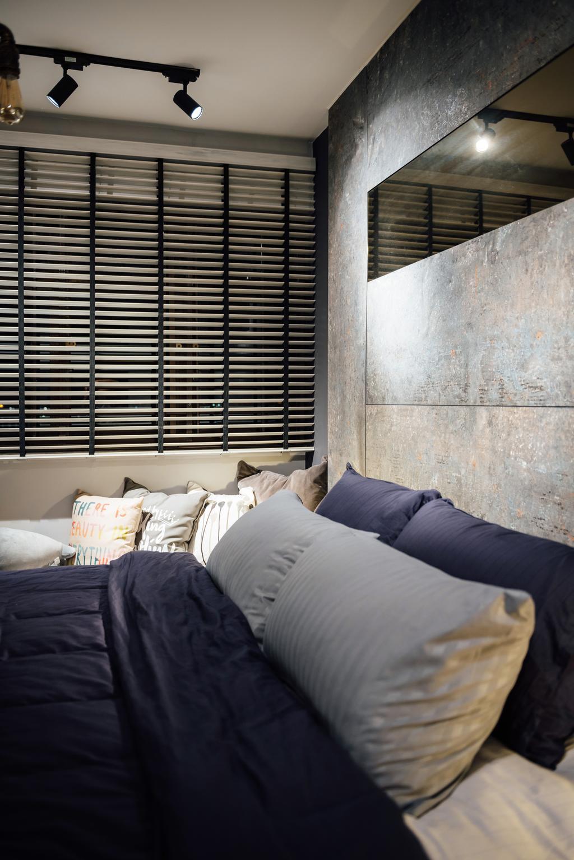 Contemporary, HDB, Bedroom, Bedok South Road, Interior Designer, Fineline Design, Industrial