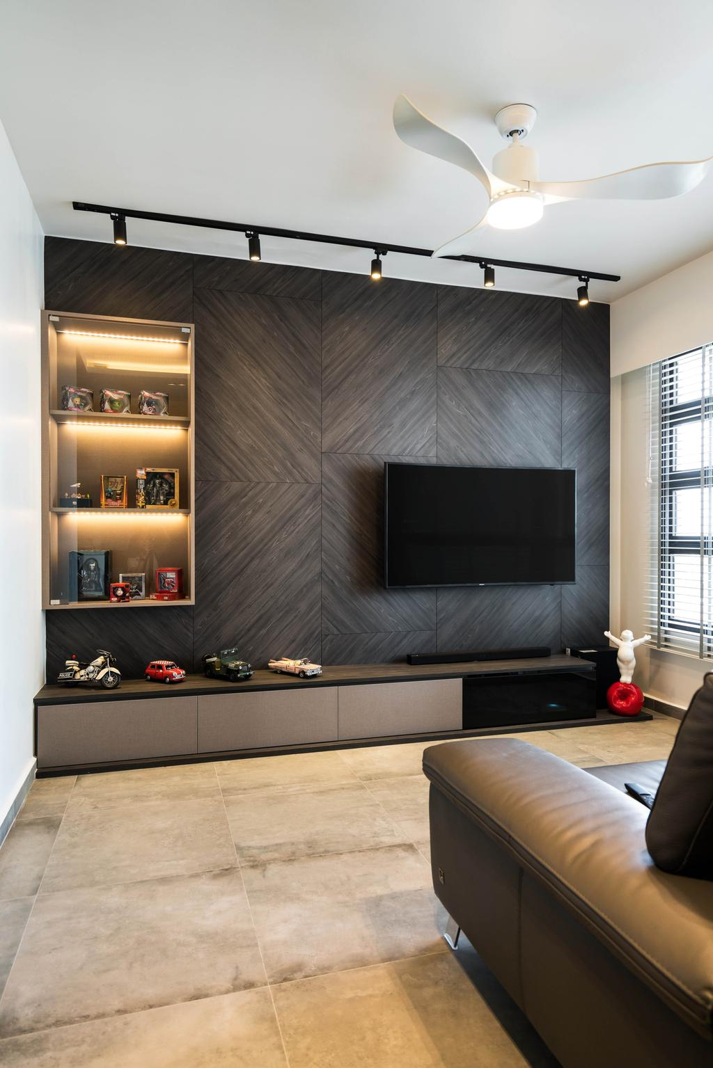 Contemporary, HDB, Living Room, Ghim Moh Link, Interior Designer, Fineline Design