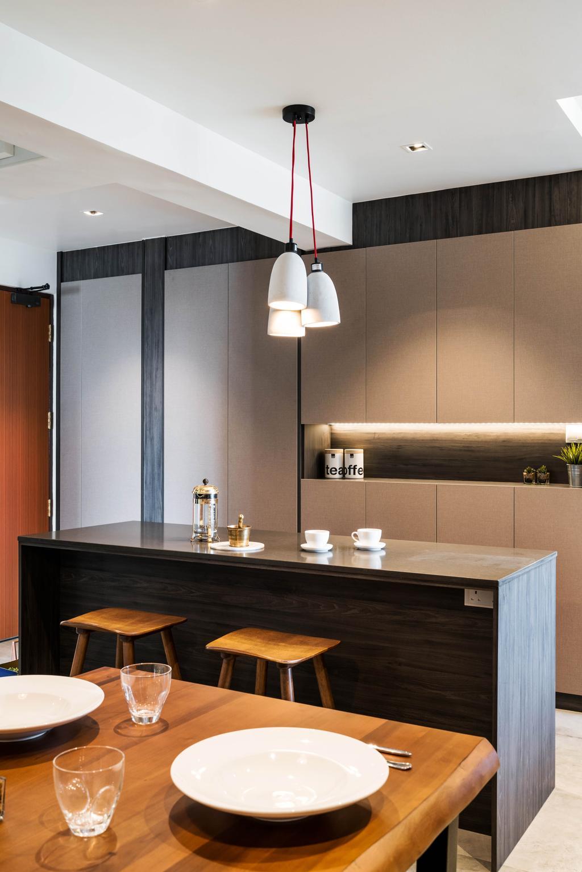 Contemporary, HDB, Dining Room, Ghim Moh Link, Interior Designer, Fineline Design