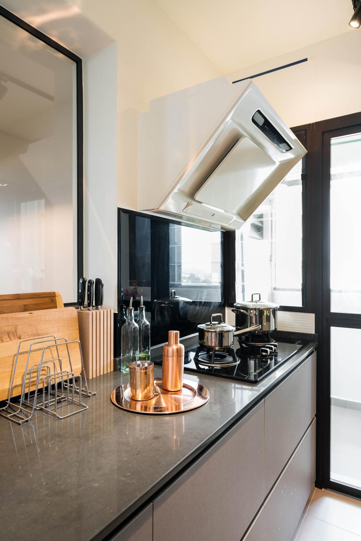 Contemporary, HDB, Kitchen, Ghim Moh Link, Interior Designer, Fineline Design