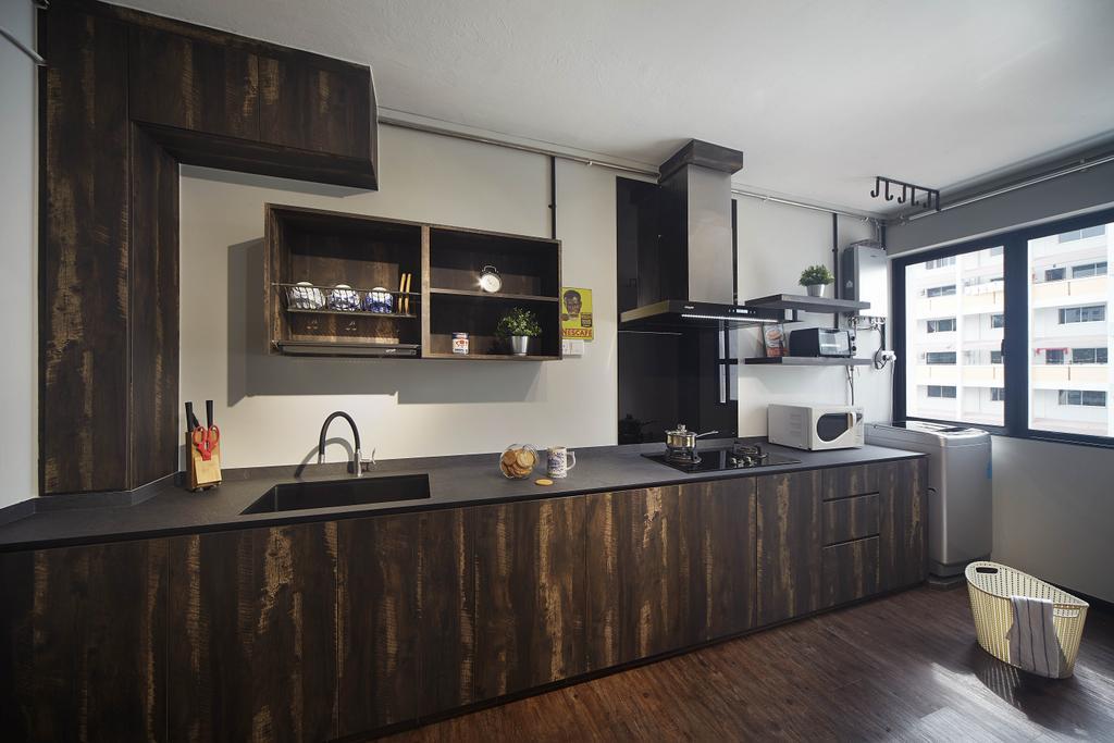 Contemporary, HDB, Kitchen, Jurong West Street 91, Interior Designer, The Interior Lab