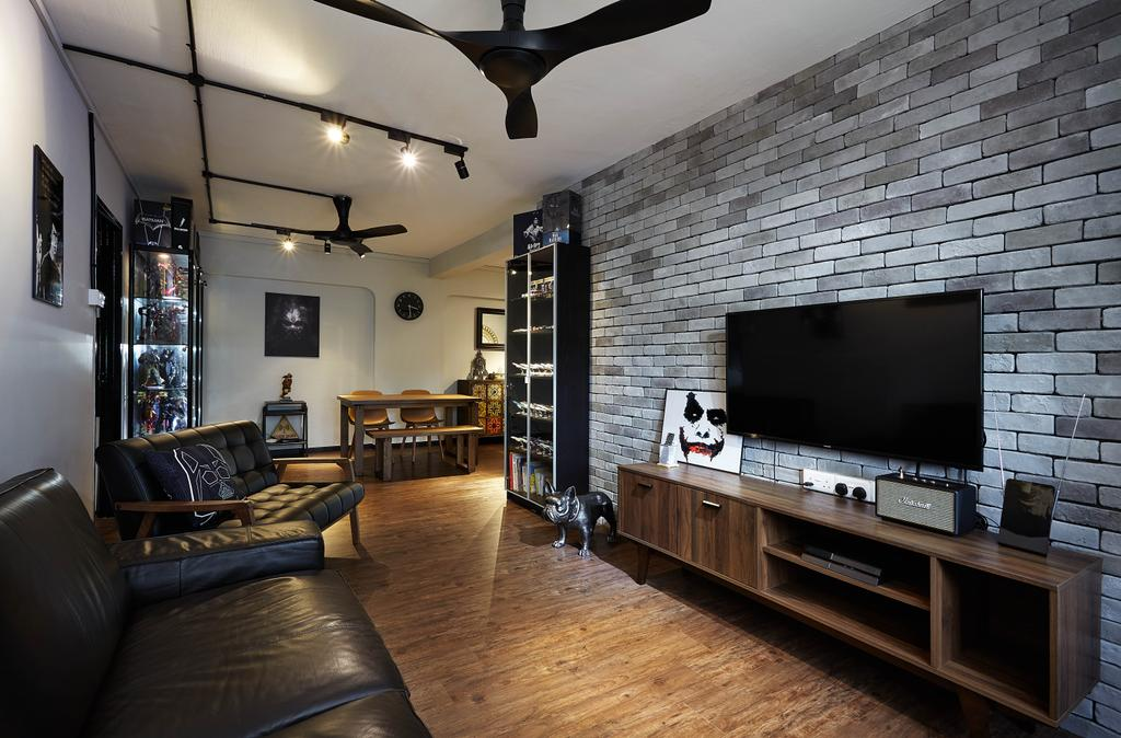 Contemporary, HDB, Living Room, Jurong West Street 91, Interior Designer, The Interior Lab