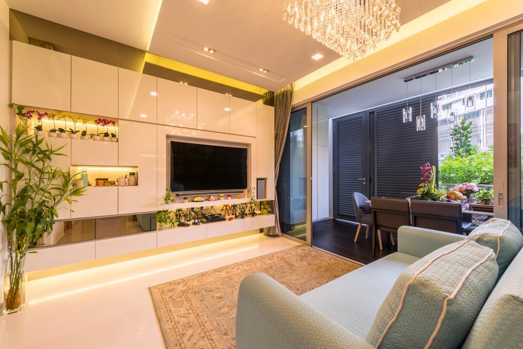 Contemporary, HDB, Living Room, Bartley Bridge, Interior Designer, Silvotino Design