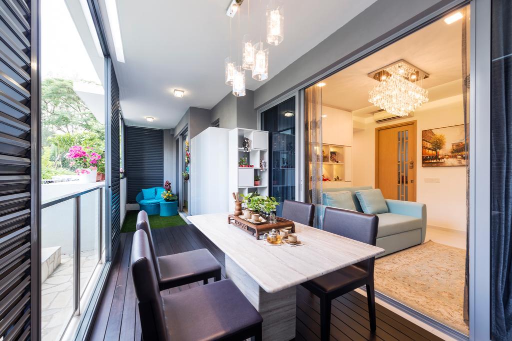 Contemporary, HDB, Dining Room, Bartley Bridge, Interior Designer, Silvotino Design