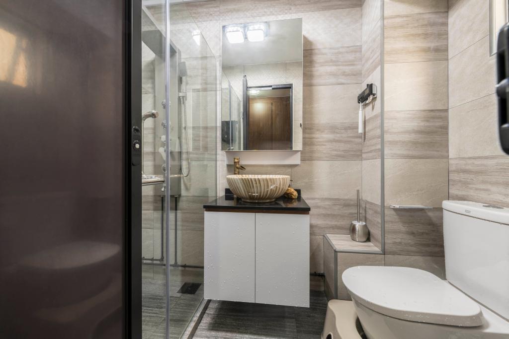 Contemporary, HDB, Bathroom, Simei Street 1, Interior Designer, Silvotino Design