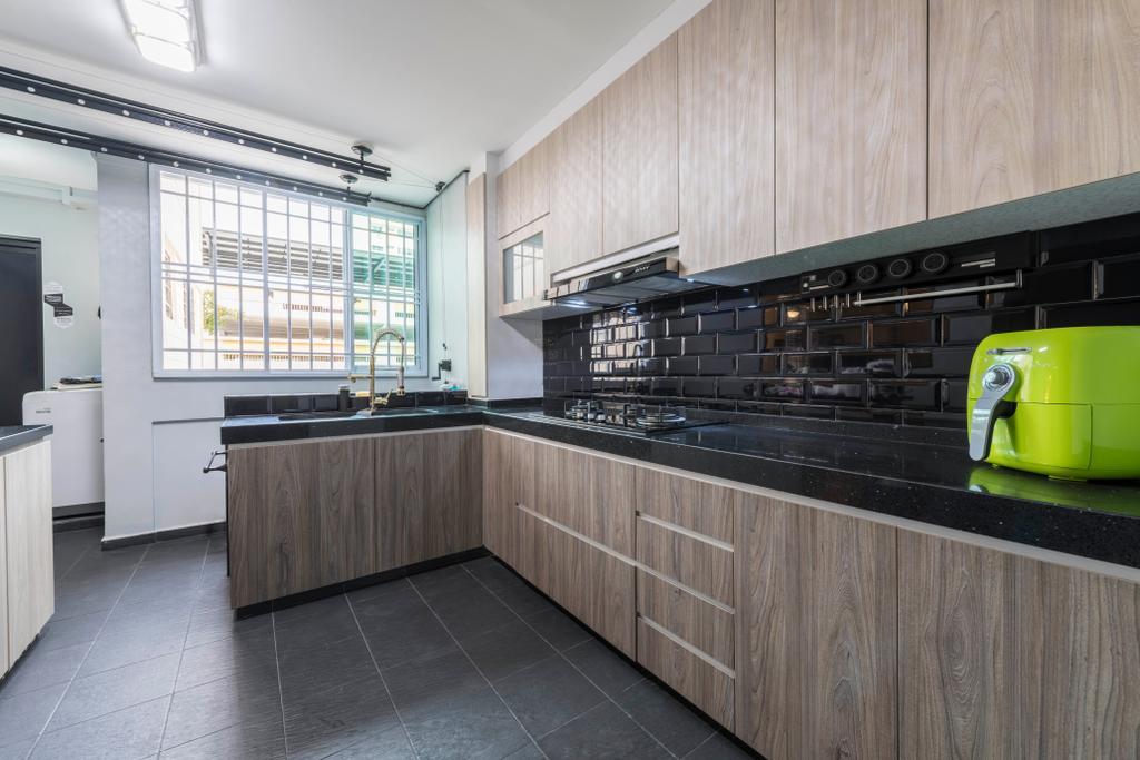 Contemporary, HDB, Kitchen, Simei Street 1, Interior Designer, Silvotino Design