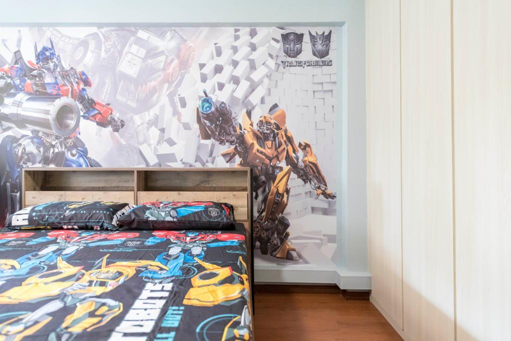 Contemporary, HDB, Bedroom, Simei Street 1, Interior Designer, Silvotino Design, Kids Room