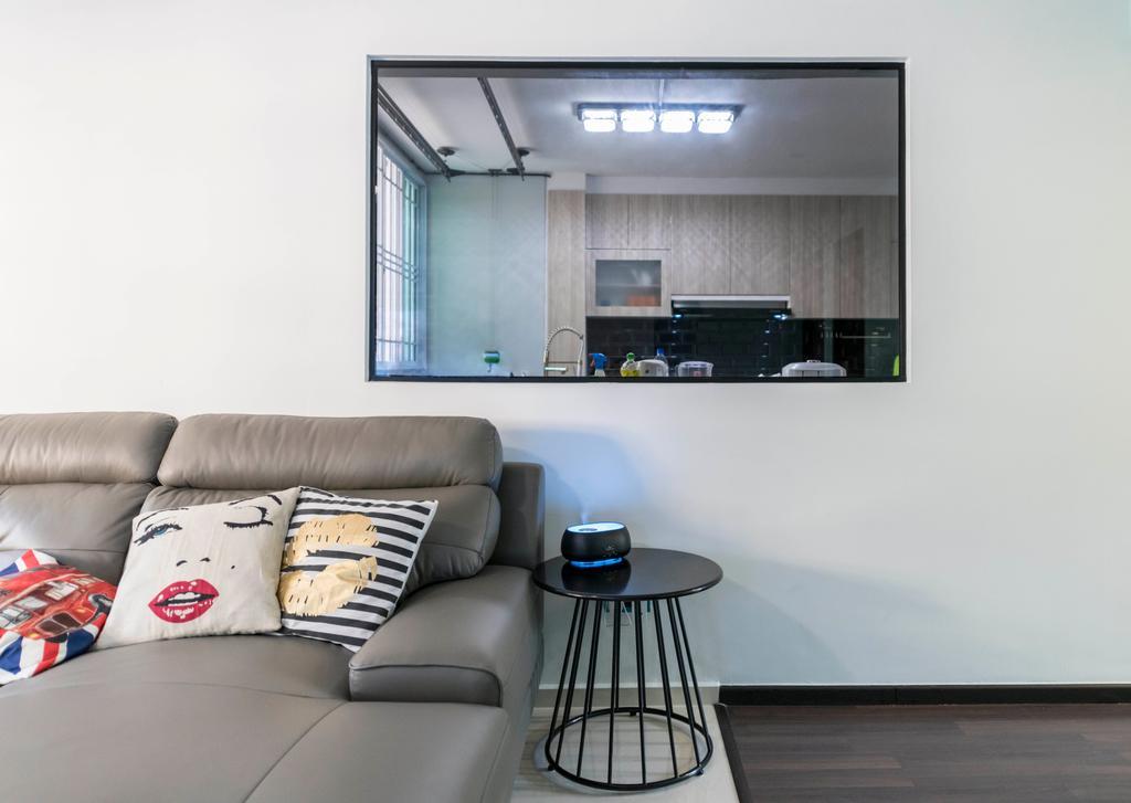 Contemporary, HDB, Living Room, Simei Street 1, Interior Designer, Silvotino Design