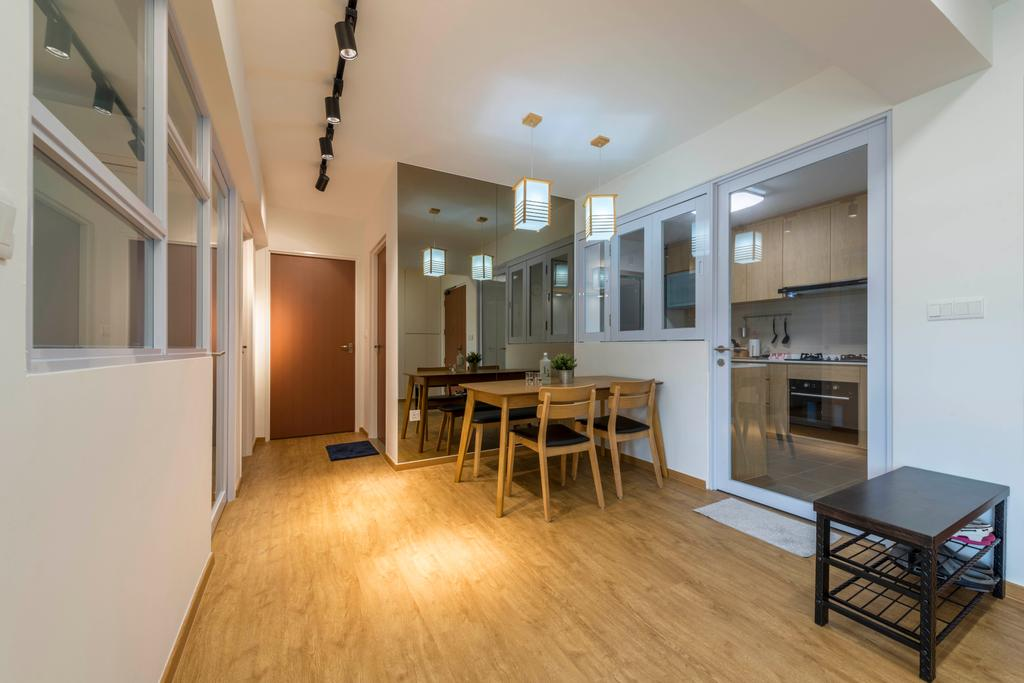 Minimalistic, HDB, Dining Room, Canberra Street, Interior Designer, Silvotino Design