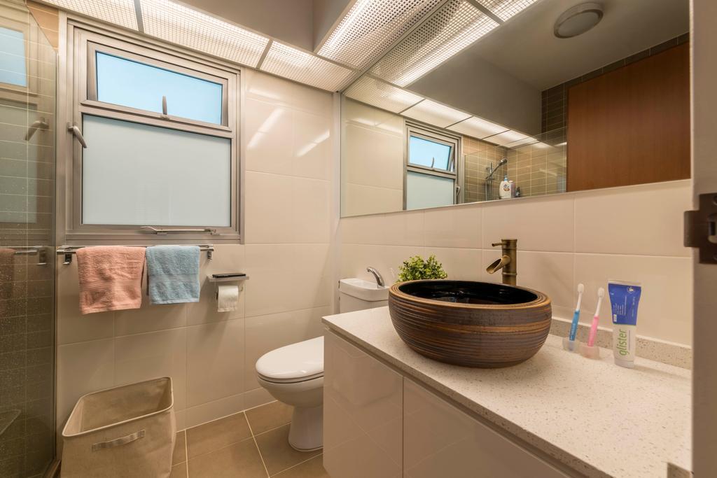Minimalistic, HDB, Bathroom, Canberra Street, Interior Designer, Silvotino Design