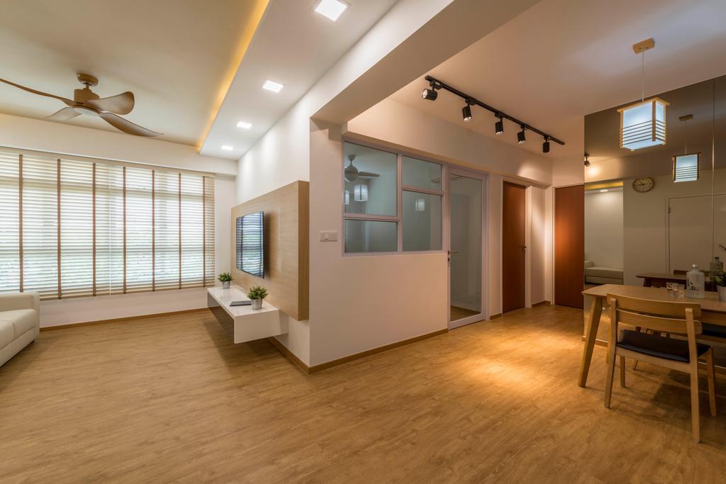 Minimalistic, HDB, Living Room, Canberra Street, Interior Designer, Silvotino Design