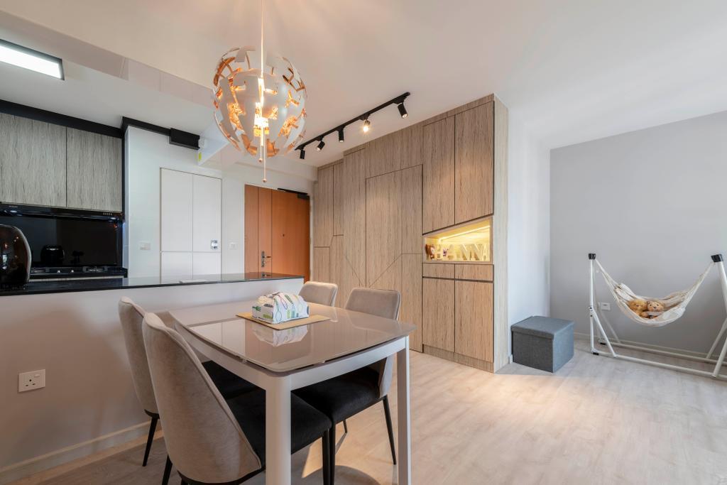 Contemporary, HDB, Dining Room, Bedok North Street 4, Interior Designer, Silvotino Design