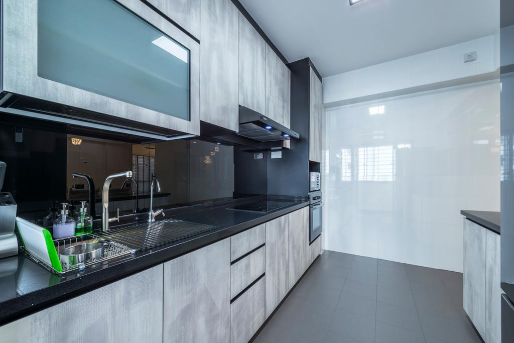 Contemporary, HDB, Kitchen, Fernvale Link, Interior Designer, Silvotino Design