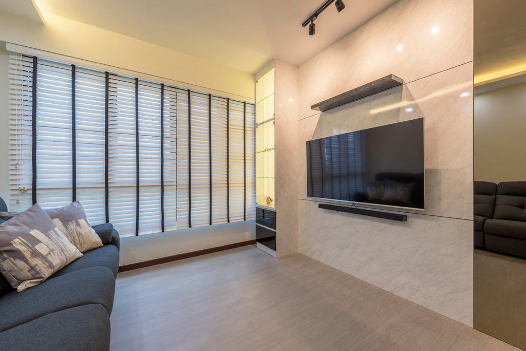 Contemporary, HDB, Living Room, Fernvale Link, Interior Designer, Silvotino Design