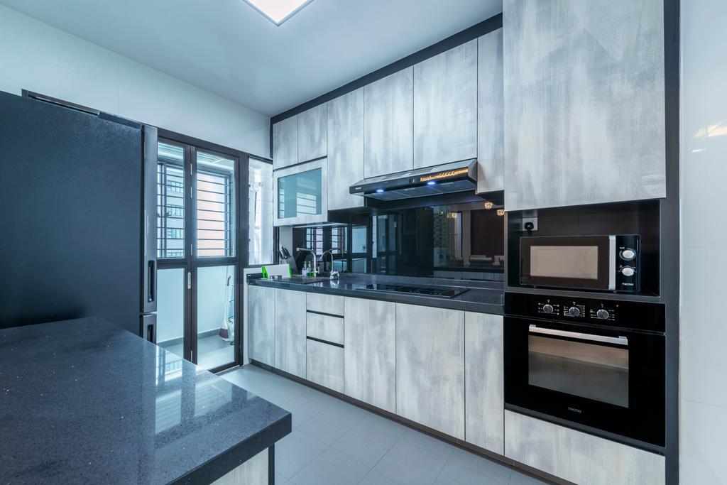 Contemporary, HDB, Kitchen, Fernvale Link, Interior Designer, Silvotino Design