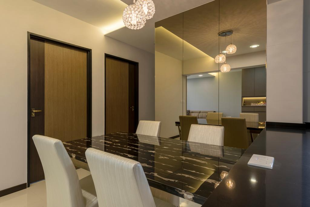 Contemporary, HDB, Dining Room, Edgedale Plains, Interior Designer, Silvotino Design