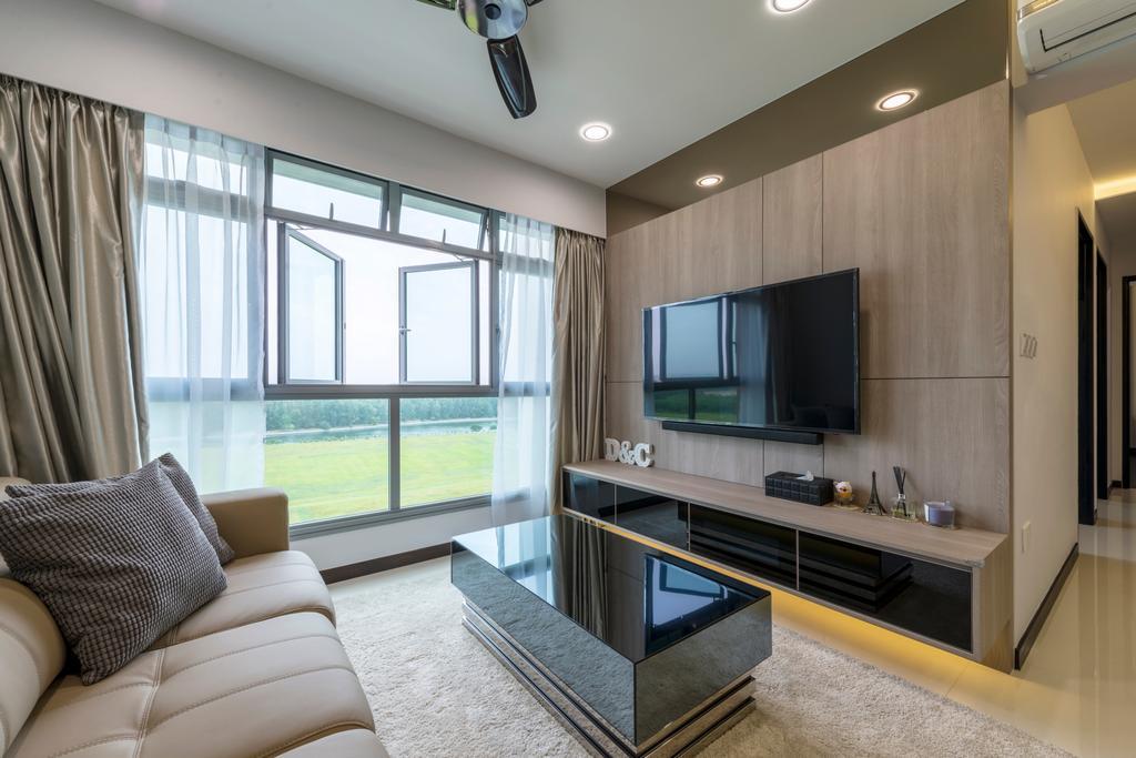 Contemporary, HDB, Living Room, Edgedale Plains, Interior Designer, Silvotino Design