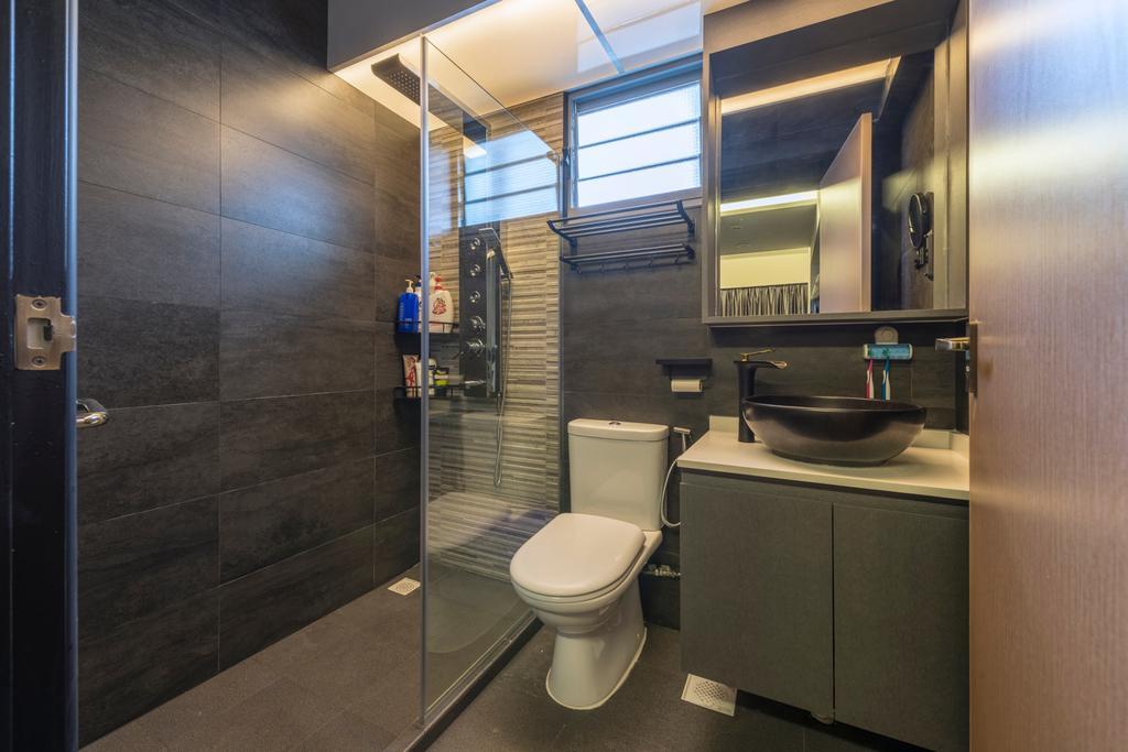 Contemporary, HDB, Bathroom, Edgedale Plains, Interior Designer, Silvotino Design