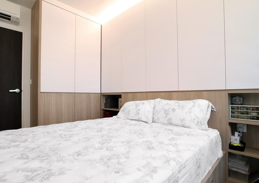 Contemporary, HDB, Bedroom, Clementi, Interior Designer, Intrigue-d Design Consultancy