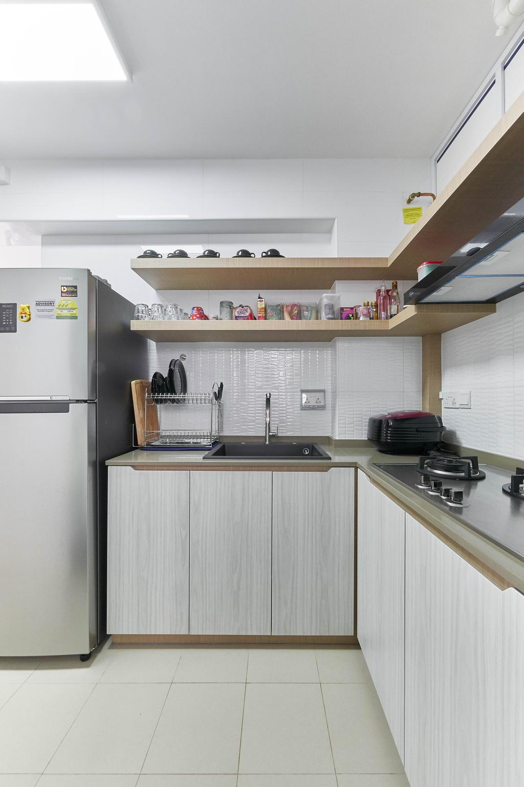 Contemporary, HDB, Kitchen, Corporation Drive, Interior Designer, VNA Design