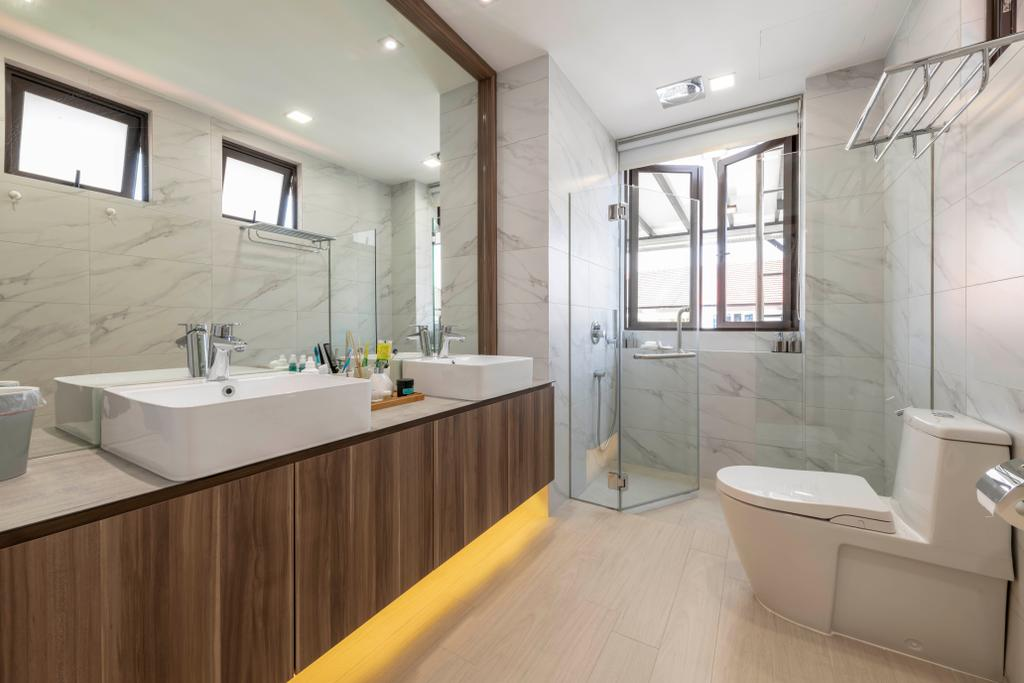 Contemporary, Landed, Bathroom, Joo Chiat Avenue, Interior Designer, Dyel Design