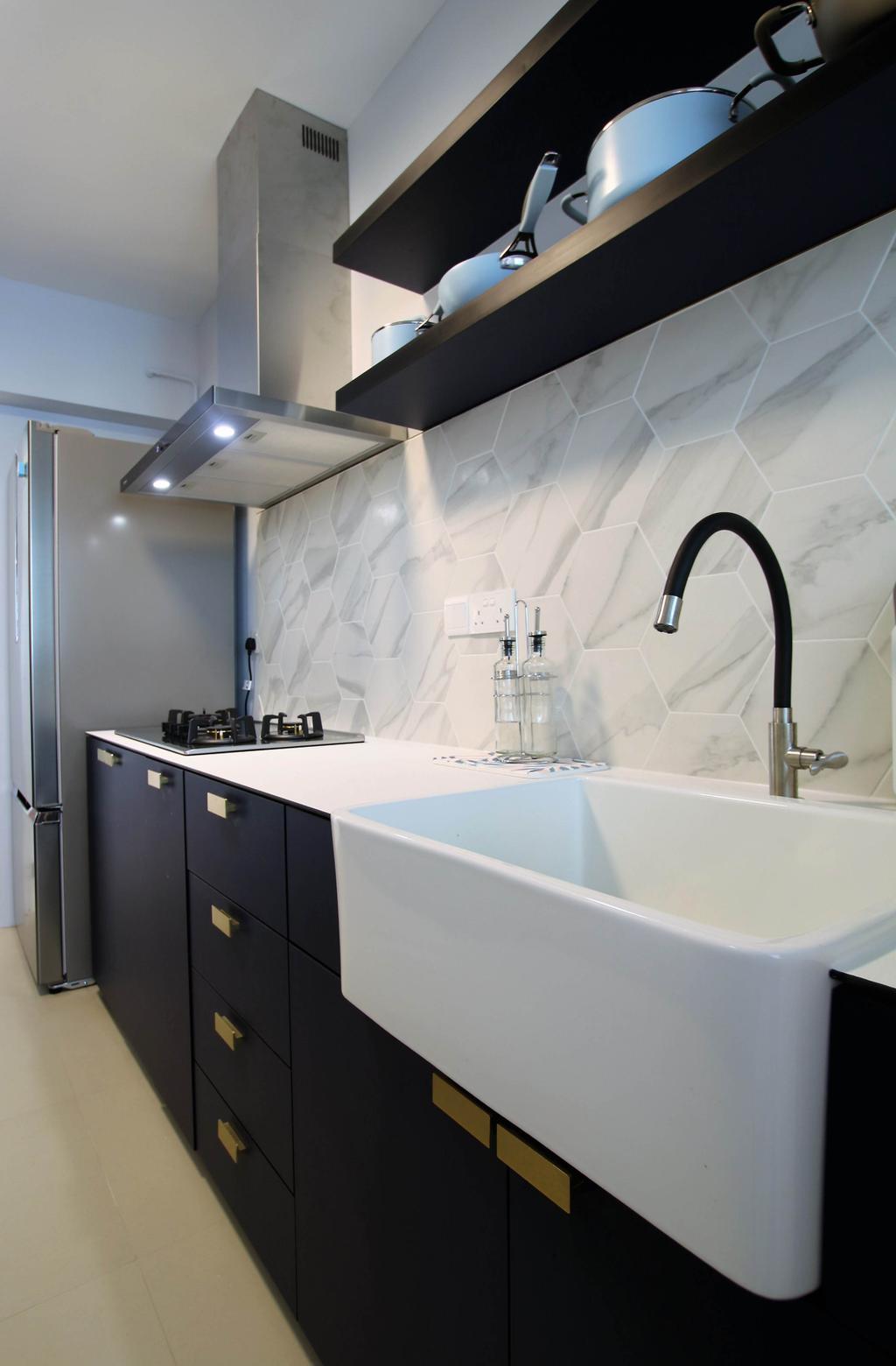 Contemporary, HDB, Kitchen, Bukit Batok, Interior Designer, Intrigue-d Design Consultancy